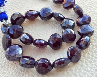 Brand New, Full 8 Inch Strand MYSTIC Amethyst Chalcedony Faceted Full Drilled Heart,7-8mm Size.