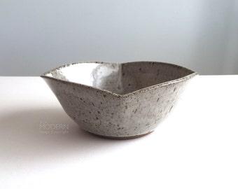 Rose Mary Square Studio Pottery Stoneware Bowl Mid Century Modern