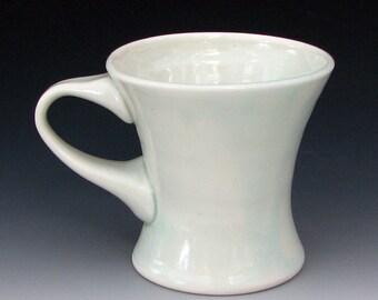 PORCELAIN MUG #1 - Translucent Cup - Translucent Porcelain Mug - Small Mug - Small Coffee Mug - Celadon Mug - Studio Pottery