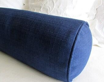 NAVY 7x20 bolster pillow includes insert