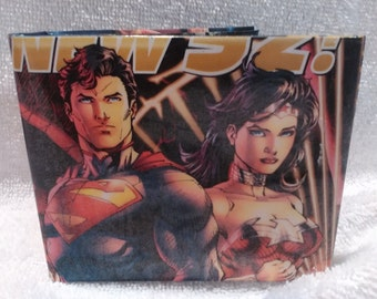Comic Book Wallet - The New 52 Superman and Wonder Woman