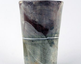 Tall Cup with White Stripe