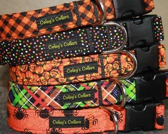 "Dog Collar ""The 2016 Halloween Collection"" Halloween Dog Collars"