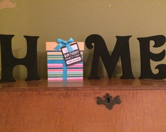 Interchangeable Home Sign - Home Sign for the Holidays - Custom Home Sign - Home Letters