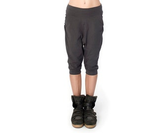 Gray Low Crotch Shorts - Low Crotch Shorts - Baggy Shorts - Drop Crotch Shorts - Sweatpants