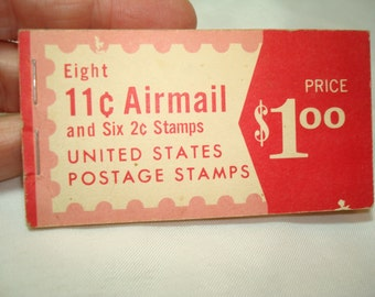Vintage Eleven Cent United States Airmail Postage Stamps.
