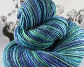 Gently Thick and Thin Merino Superwash Merino and Tussah Silk Blue Moon Fiber Arts 'Oceana'