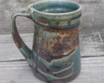 Mug, Stein, Tankard, Cup 18 ounces, hand thrown stoneware by Jennie Blair
