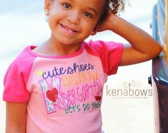 Kindergarten Shirt and Big Bow Headband, Back to School Girl Shirt, 1st Day of School Girl, Pink Embroidered School Shirt