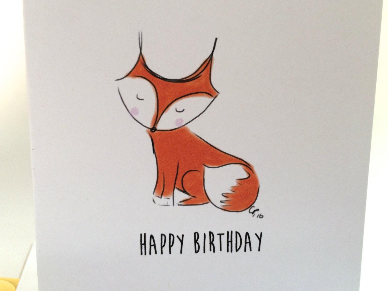 fox birthday card happy birthday you foxy thing fox doodle