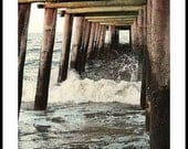 Sandbridge Virginia Pier - Virginia Beach Prints - Fishing - Beach - Decor - Surf - Art -Back Bay - Baja - Camping -Photograph By Dave Lynch