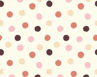 Organic KNIT Fabric - Birch Mod Basics 3 Knits - Pop Dots Girl Knit