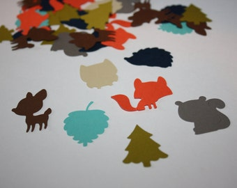 200 pieces! Ready to Ship! Woodland Theme Die Cut Confetti Table Decor