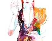 Custom Request Fashion Illustration Prints, Watercolor Fashion Illustration, art gift, interior design