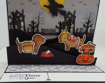 Halloween Fall Special Popup Dog Card - Blank Note Card, Cuteness, Holiday #1