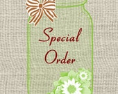 Special Order for Monin