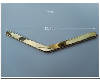 Purse corner guard Metal Edging strip for make a purse / bag 15.5cm / Golden