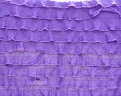 "Destash: 1"" purple ruffle Fabric"