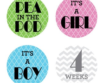 INSTANT DOWNLOAD - Printable Weekly Grey Chevron Pregnancy BUMP Stickers, Every single week, Photo Prop, Print at home, diy, belly, baby