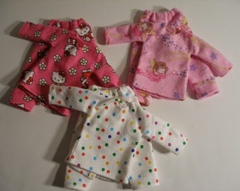 Handmade clothes for doll such as Lammily- Your choice -  Flannel Pajamas