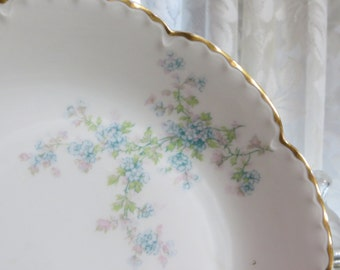 Antique Limoges -Haviland-Serving Bowl-French-Shabby Cottage Chic-Schleiger 29M