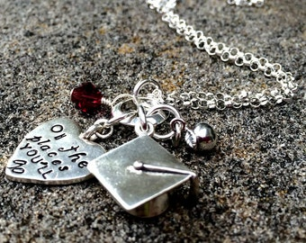 Oh the Places You'll Go - Graduation necklace in Sterling Silver