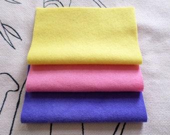 SUMMER SHADES Hand Dyed Wool, Short Bundle for Rug Hooking,Applique, Fiber Arts