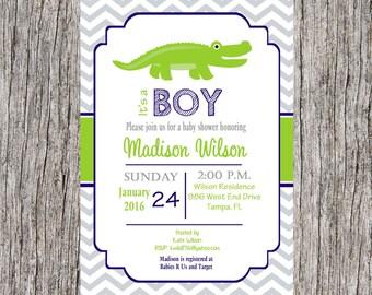 Alligator Baby Shower Invitations Gangcraft Net