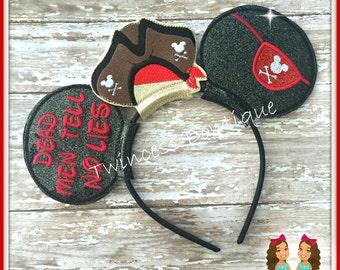 Pirate - CUSTOM Mouse Ears Headband - Twincess Bowtique