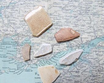Sea Pottery Pieces Seapottery Crackle Glaze Irish beach pottery
