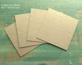 "100 3""x3"" Chipboard Squares: Rustic Kraft Brown Display Cards, Recycled 3x3 (76mm) 22 pt (.022""), 30 pt (.030""), 50pt (.050"") or 22pt White"