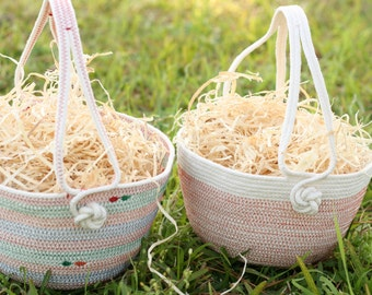 Customized Coiled Rope Easter Basket ~ made to order