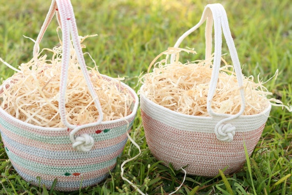 Customized coiled rope easter basket made to order - Custom made easter baskets ...