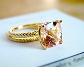 Reserved Listing for Jessica Two Carat Morganite Engagement Rose Gold Set