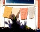 Triangles Tea Towel - Geometric Modern Organic Cotton