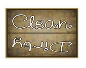 "Clean Dirty Dishes Dishwasher Brown Fridge Refrigerators Magnet  3.5"" X 2.5"""