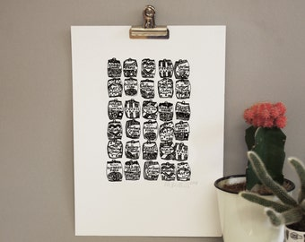 Sweet Print – kitchen art – food art – gift for foodie – gift for him – Sweet  art – gift for sweet lover
