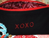 Hugs and kisses cosmetic, makeup, toiletries bag, pouch, glasses case, travel bag, jewelry holder, gift card holder