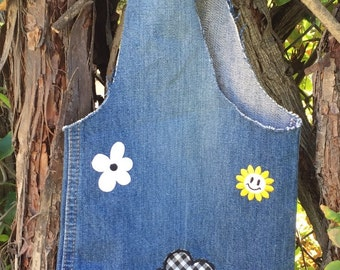 Flower Jean Bag