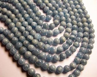Aquamarine - 8mm round beads - Full strand - 50 beads - RFG1079