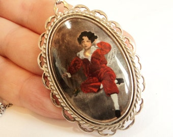 The Red Boy Necklace... British Sterling Silver... Sir Thomas Lawrence Painting