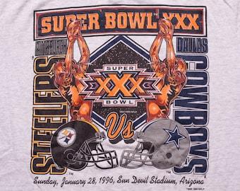 Super Bowl XXX T-Shirt, Dallas Cowboys vs Pittsburgh Steelers, Vintage 90s