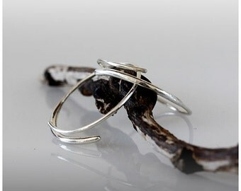 Silver Open HOOP EARRINGS hand made and designed