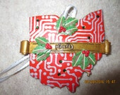 614 Ohio Ornament with holly