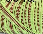 "5yd-Satin Elastic 5/8"" Approx- Foldover Elastic, Stretch Elastic, Headband Elastic, Foil Softball Elastic, SOFTBALL STITCHES (FOE)"
