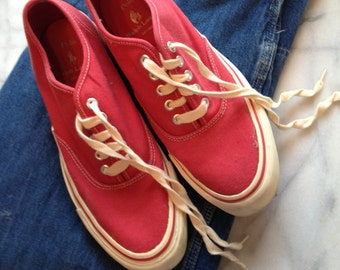 Polo Cherry Red Woman's Deck Shoes Size 9.5 B