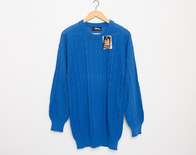 sweater blue deadstock oversized sweater