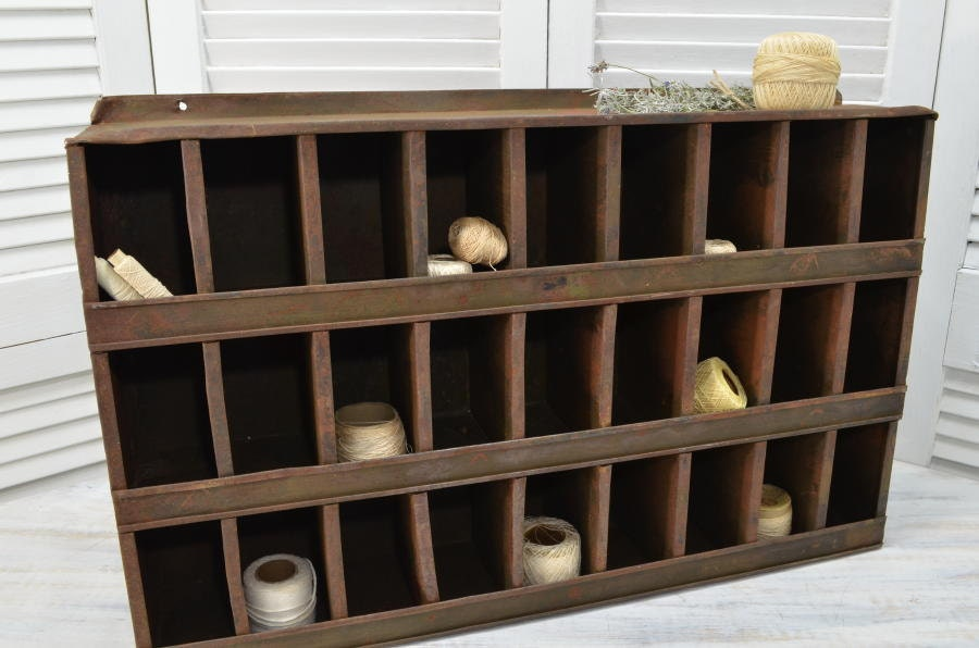 metal storage cubby rustic industrial cubby storage bin unit metal cubby 23290