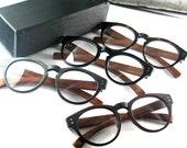 handmade vintage acetate & wood eyewear eyeglasses glasses frame