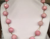 Stunning chunky substantial Malaysian Jade Pink Color Show Stopper Statement Beauty